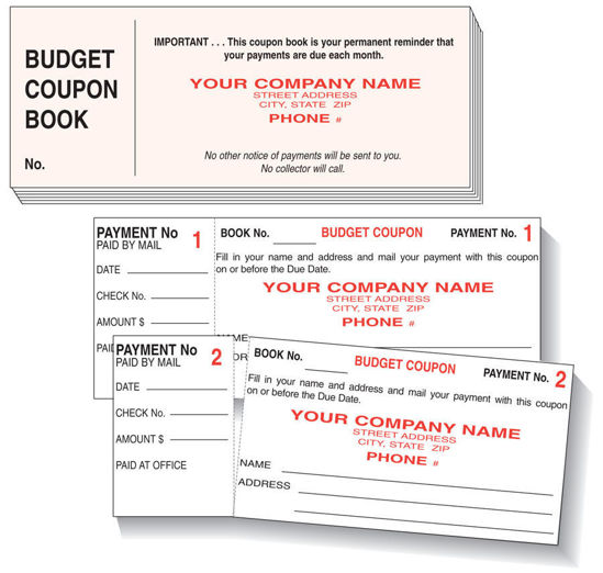 Picture of BCB12 - Monthly Budget Payment Coupons