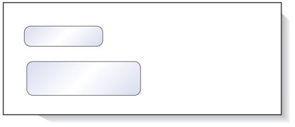 Picture of Double Window Envelope for CNC Software
