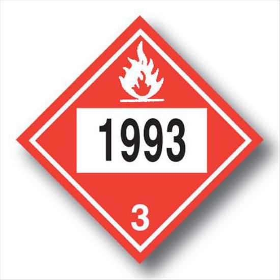 """Picture of FUEL OIL PLACARDS """"POLYO""""; PLASTIC"""
