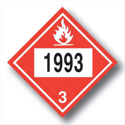 Picture of FUEL OIL PLACARDS VINYL; SELF-ADHESIVE