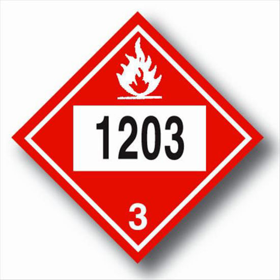 Picture of GASOLINE PLACARDS VINYL; SELF-ADHESIVE