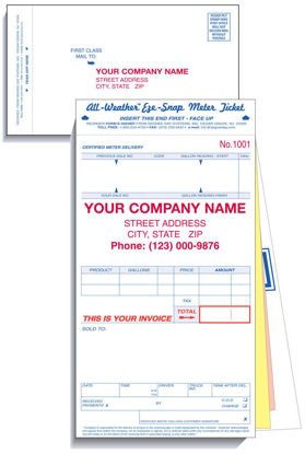 Picture of Neptune Meter Ticket with Envelope