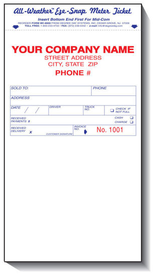 Picture of #MC8000 -8000 Series Meter Ticket